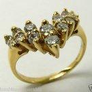 Marvelous! Diamond Cascade & Gold Ring 18k 1ct