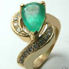 GORGEOUS COLOMBIAN EMERALD & DIAMOND RING 3.80 CTS