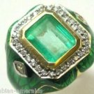 COLOMBIAN EMERALD AND DIAMOND GARDEN COLLECTION RING