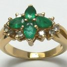 OUTSTANDING COLOMBIAN EMERALD AND DIAMOND RING 1CT