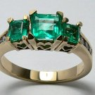 GORGEOUS NATURAL COLOMBIAN EMERALD & DIAMOND RING