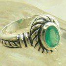 NEW!!! Artisan Collection! Oval Colombian Emerald & Sterling Silver Ring