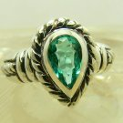 Artisan Collection of Sterling Silver & Colombian Emerald Ring