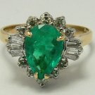 DIVA WORTHY COLOMBIAN EMERALD & DIAMOND RING 2.01CTS
