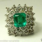Gorgeous Colombian Emerald & Diamond Ring 5.20tcw