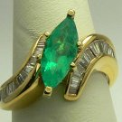 Sparkling Colombian Emerald & Diamond Ring 2.80ctw