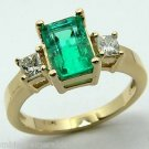 SPECTACULAR COLOMBIAN EMERALD & DIAMOND RING 1.80CTS
