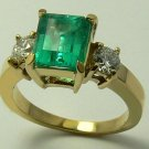 CLASSIC COLOMBIAN EMERALD & DIAMOND RING 2.20CTS