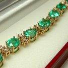 UNBELIEVABLE COLOMBIAN EMERALD & DIAMOND BRACELET 11CTS