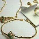 Colombian Emerald & Diamond Jewlery Set- 4 pieces!