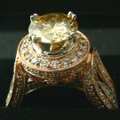 AWE INSPIRING CHAMPAGNE DIAMOND ROSE GOLD RING 2CTS