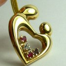 UNIQUE HEART PENDANT MOTHER WITH CHILD