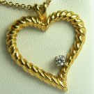 DELIGHTFUL DIAMOND HEART PENDANT