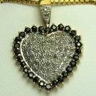 DREAMY SAPPHIRE & DIAMOND HEART PENDANT