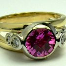 TRES CHIC!!! PINK TOURMALINE & DIAMOND RING 2.50CTS