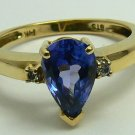 WOW!!!! TANZANITE & DIAMOND RING 1.20CTS