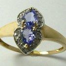 COLORFUL TANZANITE & DIAMOND RING