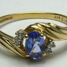DREAMY TANZANITE & DIAMOND RING .65CTS