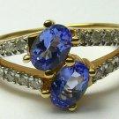 SUPERB TANZANITE & DIAMOND RING