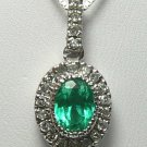 Resplendent Colombian Emerald & Diamond Necklace