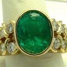 5.80ct Gem Quality Colombian Emerald & Diamond Ring