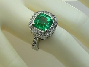 4.60tcw HeartStopping! Colombian Emerald & Diamond Cocktail Ring 14k