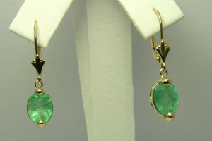 Classic Colombian Emerald Dangle Earrings 3.80cts