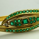 Remarkable! Colombian Emerald & 18k Gold Bangle