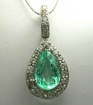 5.30cts Magnificent! Movie Star Colombian Emerald & Blinding Diamond Pendant