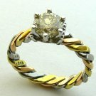 1.02cts Antique! Christian Dior Light Fancy Brown Diamond & 18k Gold Ring