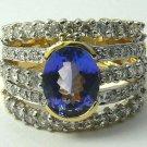 KNOCKOUT TANZANITE & DIAMOND RING 4.11TCW