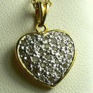 PERFECT!!! PAVE DIAMOND HEART PENDANT