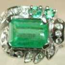 EMERALD AND DIAMOND RING 3.75 CTS