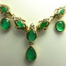 5.0tcw Tres Jolie! Colombian Emerald Diamond & Gold Necklace
