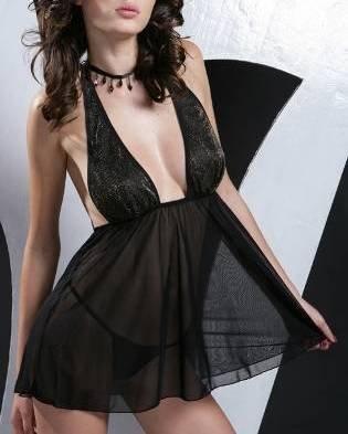~ Super Sexy Elegant Halter Neck With Necklace ~