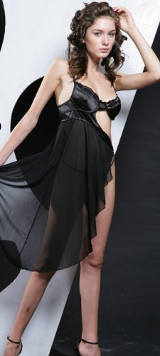 ~ Sexy Sheer Angled Long Gown ~