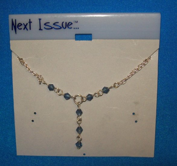 "Jewelry, Blue Austrian Crystals on a 16"" Silver Chain with blue cyrstals"