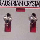 Austrian Crystal Jewelry,  Earrings clear/black #8**
