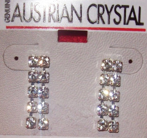 Austrian Crystal Jewelry,  Surgical steel post, Dangling earrings #6**