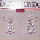 Austrian Crystal  Jewelry, Dangling Earrings,Clear crystals