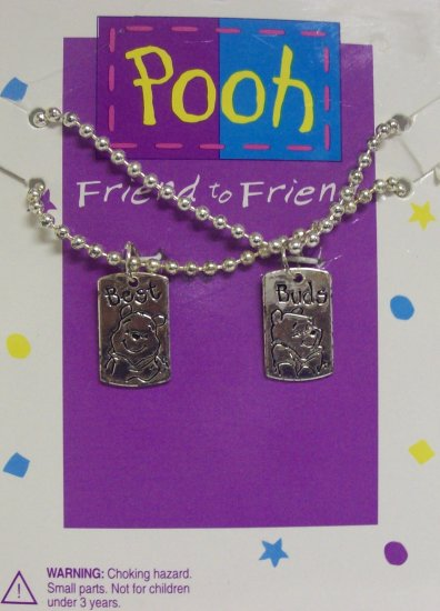 Children's Jewelry, Winnie the Pooh Necklaces, Friend to Friend,  Silver Bars**