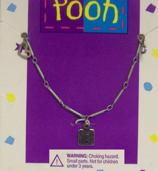 Children's  Jewelry, Winnie the Pooh Necklace w/ small hearts 2015
