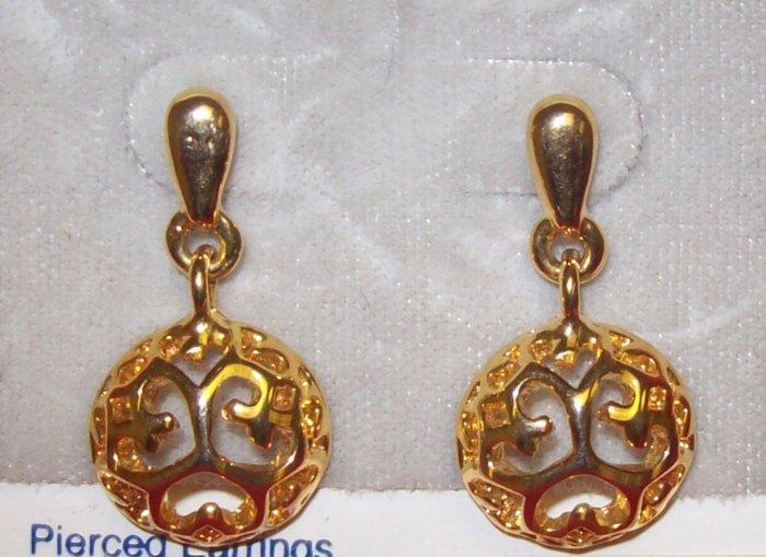 Jewelry, Hypo-allergenic Gold Dangling Earrings w/ filligree design**