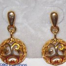 Jewelry, Hypo-allergenic Gold Dangling Earrings w/ filligree design**