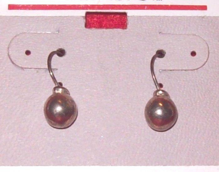 Jewelry, 1 Pr silver ball  earrings w/ surgical steel post