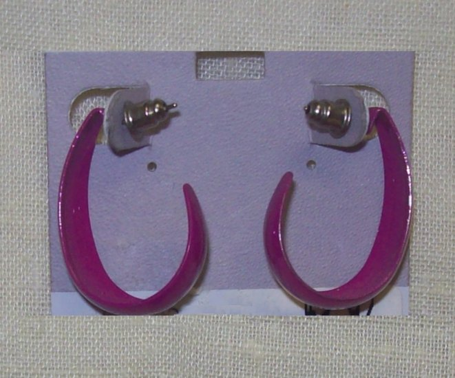 Fashion Jewelry, Fushia earrings, surgical steel posts