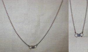 """16"""" silver neckchain w/ small flower"""