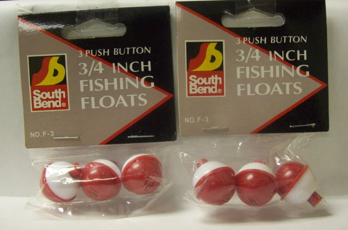 "Fishing Tackle, Southbend 3/4""  push button fishing floats"