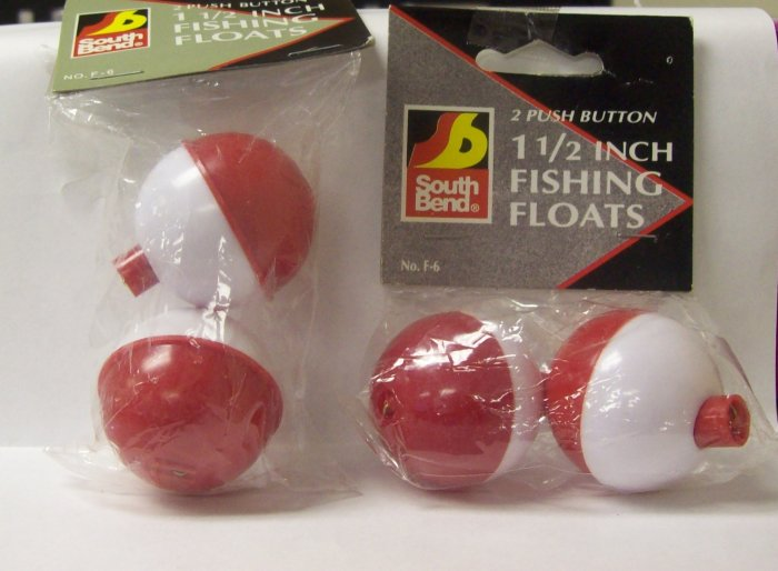 Fishing Tackle, Southbend push button fishing floats,1- 1/2 inch size
