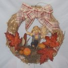 Halloween  Decorations,  Door  Wreath with  scarecrow